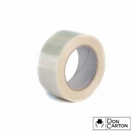Lepící páska 50x50 HM skelná vlákna cross