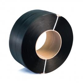 Vázací páska PP 9x0,55x4000, D200, Pevnost 950, černá