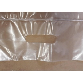 LDPE taška s lepící klopou 550x500+100ucho+100LP