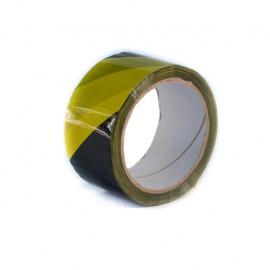 Lepící páska BOPP 48x66 HM žlutočerná LEVÁ