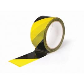 Lepící páska BOPP 48x66 HM žlutočerná PRAVÁ