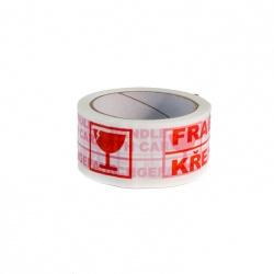 Lepící páska 48x66 HM potisk FRAGILE/křehké