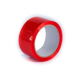 Lepící páska 50x50 PET bezpečnostní pečetící, červená