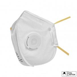 Filtrační polomaska CXS SPIRO P1, skládací s ventilkem