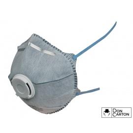 Filtrační polomaska CXS SPIRO P2, tvarovaná s ventilkem a aktivním uhlím