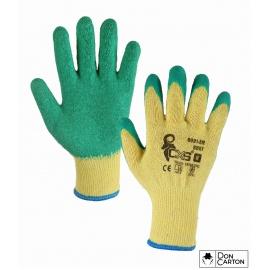 Rukavice ROXY, máčené v latexu, žluto-zelené, vel. 11