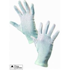 Rukavice FAWA, textilní, bílé, vel. 10