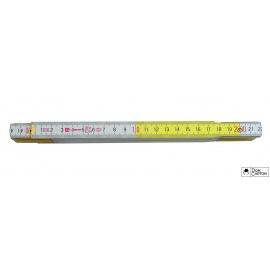 Metr skládací 2 m METRIE bílo-žlutý